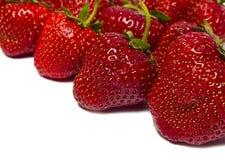 Свежая красная клубника ягоды изолированная на белой предпосылке Стоковое Фото