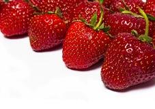 Свежая красная клубника ягоды на белой предпосылке Стоковое Изображение RF