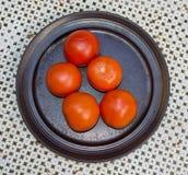 Свежая красная плита томатов Стоковые Фото