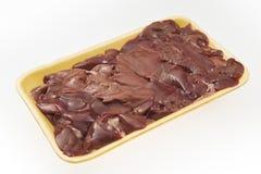 Свежая куриная печень в пакете стоковые фотографии rf