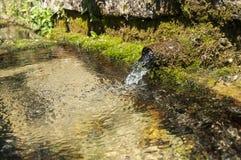 Свежая ключевая вода горы двигателя Стоковые Фотографии RF