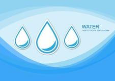 Свежая минеральная вода Иллюстрация вектора