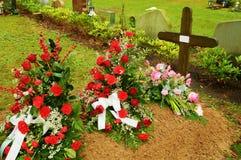 свежая могила Стоковые Фото