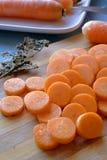 Свежая морковь отрезает урожай портрета бортовой Стоковые Фото