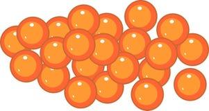 Свежая оранжевая икра семг иллюстрация вектора