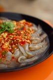 Свежая пряная креветка известки - еда Азии Стоковое Изображение RF