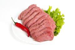 Свежая сырцовая говядина стоковое изображение