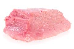 Свежая сырцовая предпосылка мяса свинины изолированная белая Стоковое Фото