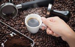 Свежая чашка эспрессо Стоковое Изображение