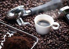 Свежая чашка эспрессо Стоковая Фотография RF
