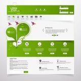 Свежая чистая тема /Eco шаблона вебсайта Стоковая Фотография RF