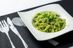 Свежее блюдо макаронных изделий pesto Стоковое Изображение RF
