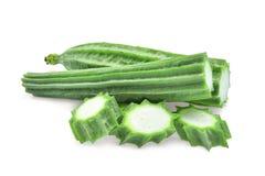 Свежее зеленое acutangula luffa на белизне Стоковые Изображения