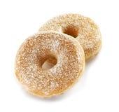 2 свежее и вкусные donuts сахара Стоковая Фотография