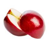 Свежее красное изолированное яблоко Стоковая Фотография