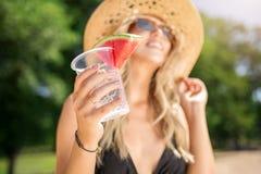 Свежее питье с арбузом стоковые изображения