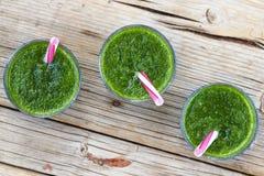 Свежее питье шпината Вытрезвитель весны еда здоровая еда здоровая Стоковое Изображение