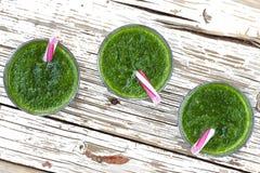 Свежее питье шпината Вытрезвитель весны еда здоровая еда здоровая Стоковые Фотографии RF