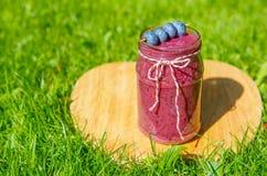 Свежее питье smoothie с различными ягодами как здоровый завтрак Стоковая Фотография
