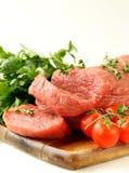 Свежее сырцовое мясо говядины Стоковое Изображение