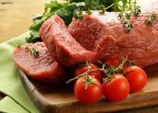 Свежее сырцовое мясо говядины Стоковая Фотография