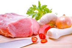 Свежее сырцовое мясо Стоковые Изображения RF