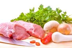 Свежее сырцовое мясо Стоковая Фотография