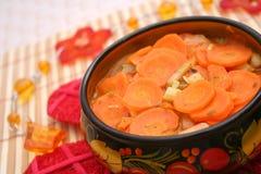 Свежее тушёное мясо морковей Стоковое Изображение