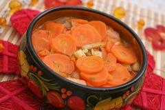 Свежее тушёное мясо морковей Стоковое Фото
