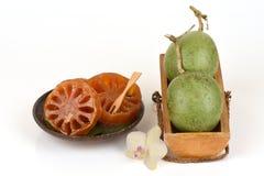 Свежее bael и bael конфеты, плодоовощ Таиланда Стоковое фото RF
