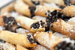 Свежее Cannolis для десерта Стоковые Изображения RF