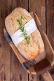 Свежее Ciabatta (итальянский хлеб) Стоковые Изображения RF