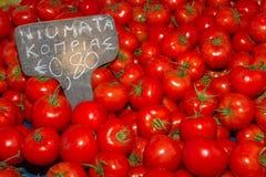 Свежее harvrst очень вкусных томатов Стоковые Изображения