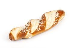 Свежее Laugenstangerl - немецкое, австрийский хлеб крена Стоковое Фото