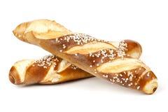 Свежее Laugenstangerl - немецкое, австрийский хлеб крена Стоковое фото RF