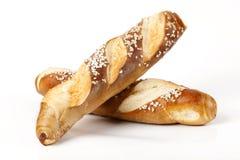 Свежее Laugenstangerl - немецкое, австрийский хлеб крена Стоковые Фотографии RF