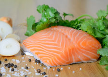 Свежее salmon филе Стоковое Изображение