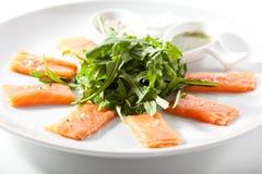 Свежее salmon carpaccio стоковое фото