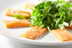 Свежее salmon carpaccio стоковое изображение