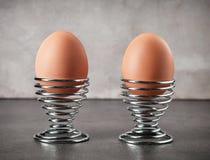 2 свеже вареного яйца Стоковое Изображение RF