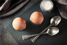 2 свеже вареного яйца Стоковые Фотографии RF