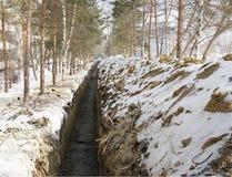 Свеже выкопанная канава Стоковое Изображение RF