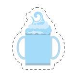 свеже линия отрезка напитка smoothie здоровая бесплатная иллюстрация