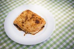 Свеже испеченное moussaka, греческий рецепт Стоковая Фотография