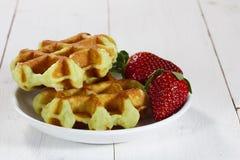 Свеже испеченные waffles Стоковое фото RF