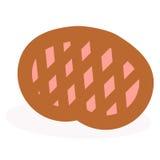 Свеже испеченный пирог на белой предпосылке Стоковое Изображение RF