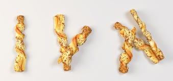 Свеже испеченный хлеб изолированный дальше иллюстрация штока