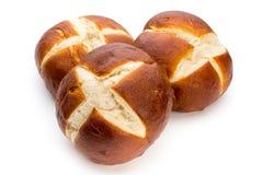 Свеже испеченный хлеб изолированный на белой предпосылке Стоковая Фотография