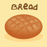 Свеже испеченный хлеб на белой предпосылке Стоковые Фото