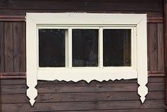 свеже покрашенное окно Стоковая Фотография